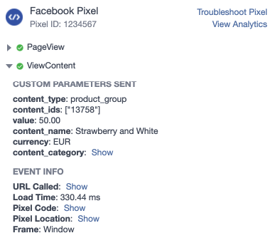 Facebook pixel variable parent products woocommerce