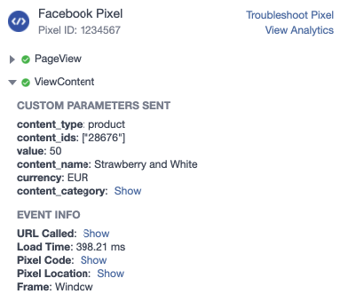Facebook pixel variant (child) product WooCommerce