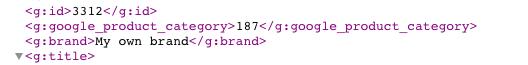 Static value in XML