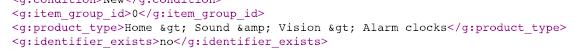 Product Type XML