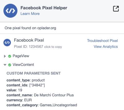 Facebook pixel variation product