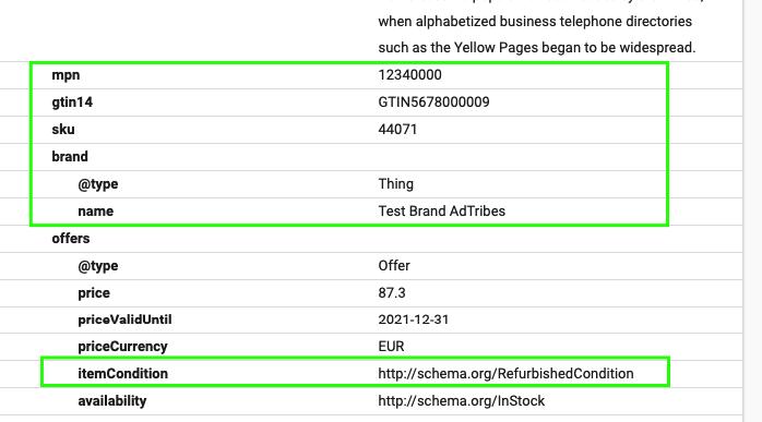 structured data addition